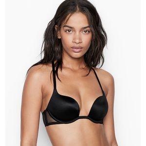 NWT Victoria's Secret Black Lacy Racerback Bra